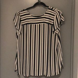 Black and white stripe Loft Top